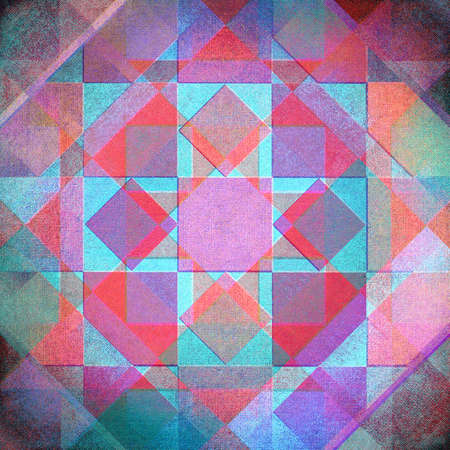 overlapping: Purple, blue and red overlapping retro canvas pattern