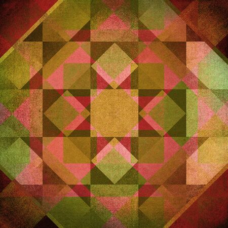 overlapping: Red, brown and green overlapping retro canvas pattern