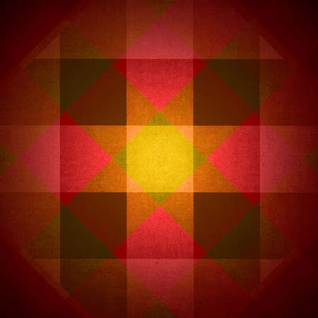 grubby: Red and yellow fabric diamonds and squares pattern with spotlight