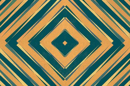 vertigo: Retro green and orange diamond shapes pattern