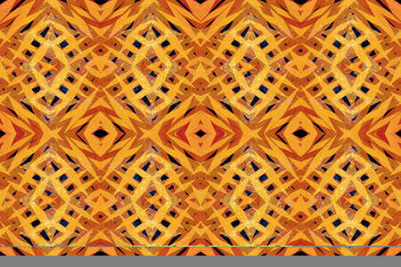 scratched: Scratched yellow and orange tribal shapes pattern