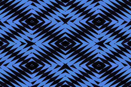 jagged: Textured black and blue tiled diamond shapes pattern Stock Photo
