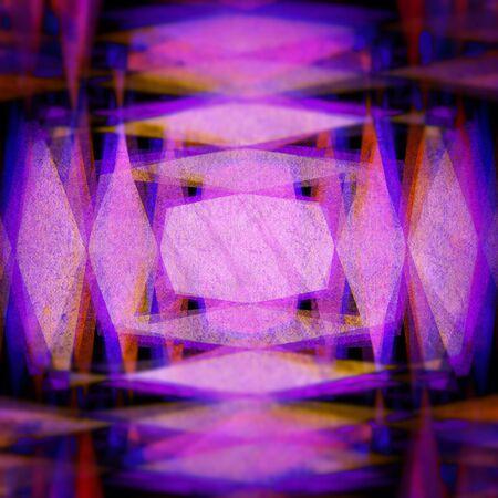 rough diamond: Retro purple and yellow diamond blur background Stock Photo