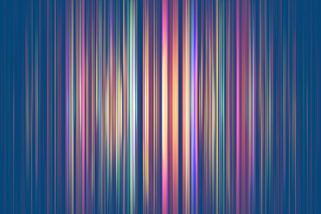 Colourful light streaks on a blue background Stock Photo