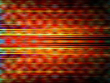 streaks: Glowing yellow and orange light streaks with a blurred pattern background Stock Photo