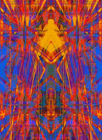 Blue and orange grunge star background