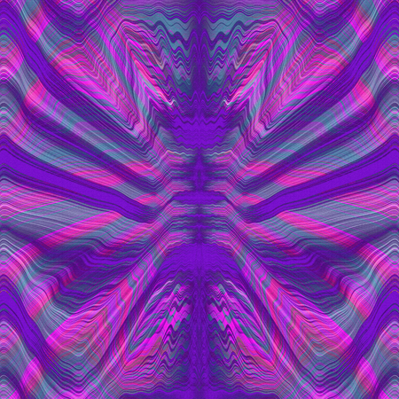 trippy: Textured purple retro psychedelic lines pattern Stock Photo