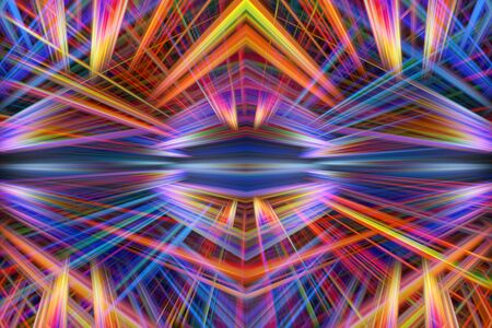 light beams: Colorful orange and purple light beams background