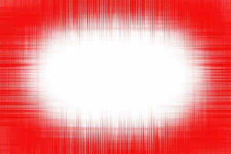 白地に赤い線のビネットをラフします。
