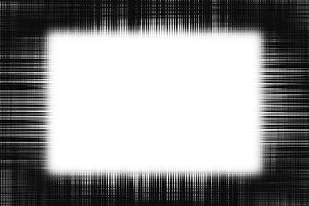 白い背景に黒い線境界線フェージングをラフします。