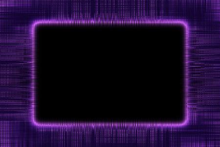 黒の背景に紫の線枠