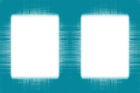 白い背景にフェード ブルー ライン ダブル フレーム 写真素材