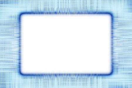 Blue lines border frame on a white background