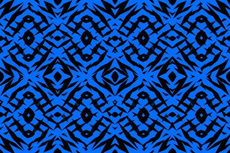 大まかな青と黒の部族の形状パターン