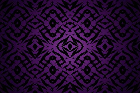 Purple and black tribal shapes pattern with a centre spotlight