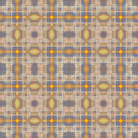 Vintage gold and brown crosses pattern Stock Photo