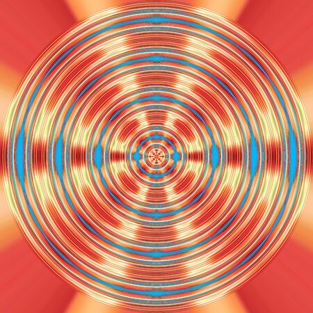 Red and blue spinning background with starburst