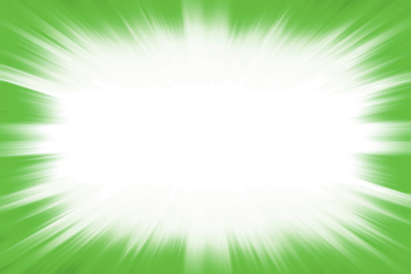 Green starburst explosion frame with a white copy space centre 写真素材