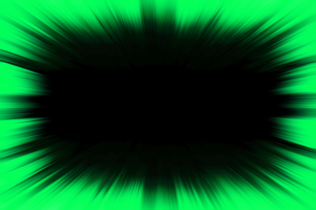 Green starburst explosion frame with a black copy space centre
