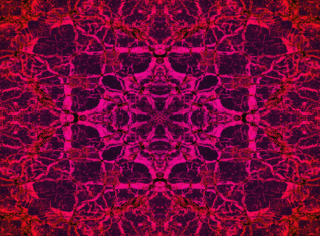Psychedelic red and purple kaleidoscope pattern background