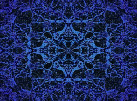 Psychedelic blue kaleidoscope pattern background
