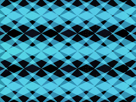 Abstract overlapping black and blue star pattern