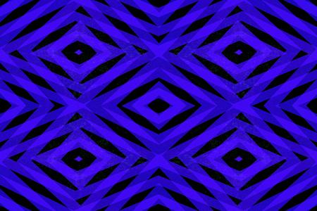 Retro blue and black diamond shapes pattern