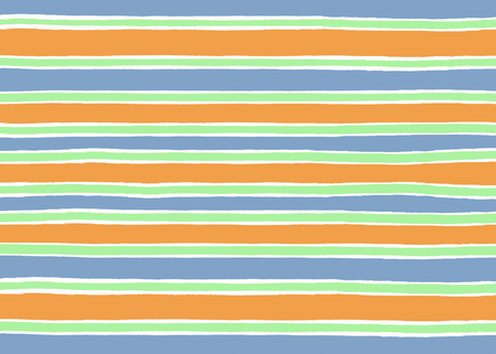 Blue, orange and green ripped paper stripes background Фото со стока