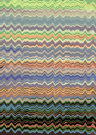 Orange, green and blue Zig Zag lines background