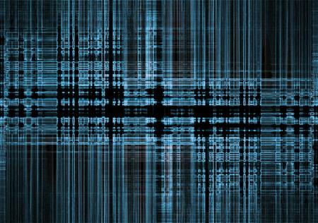 Abstracte blauwe weggeschoten tech achtergrond op zwart