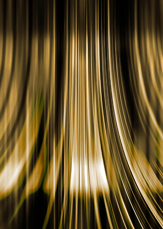 Gold and black curving lines background with highlight