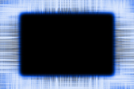Blue and black lines border frame background with a black copy space centre Imagens
