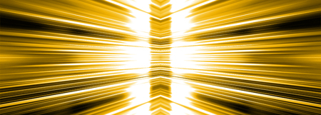Radiating white light burst banner panoramic on a yellow background Banco de Imagens - 104509854