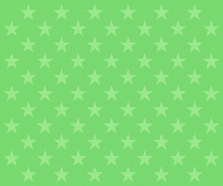Repeating faded green stars pattern on a textured green background