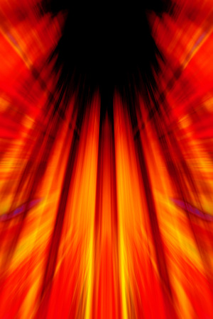 Colourful red and orange light beams background with black copy space Stock fotó