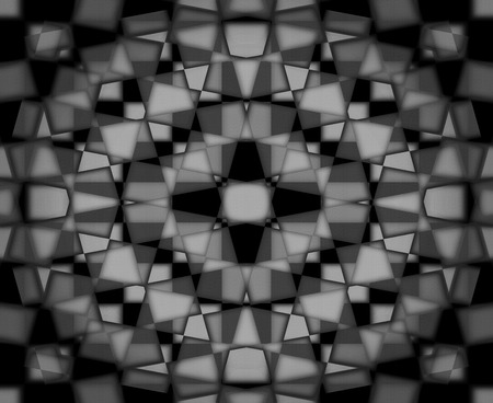 Black and white kaleidoscope pattern