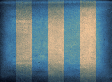 Faded blue and yellow striped retro canvas deck chair cover