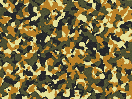 Textured green and orange camouflage pattern background 写真素材