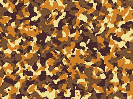 Textured brown and orange camouflage pattern background Фото со стока