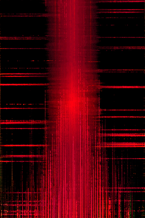 Red and black distorted grunge sound meter