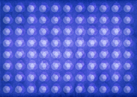 Light circles retro pattern on a textured blue background