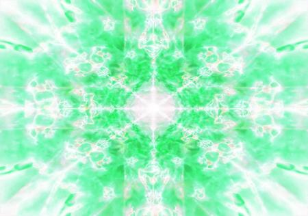 Light green kaleidoscope background pattern
