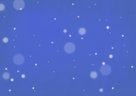 Blue out of focus snow background
