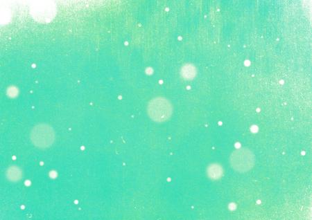 Vintage green grunge snow background