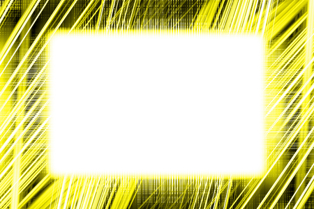 Yellow and black light trails border frame with white copy space