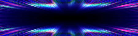 Colourful blue and purple starburst explosion banner with a black copys pace centre
