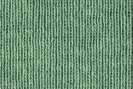 Faded green cotton fibres close up, macro detail Stock Photo