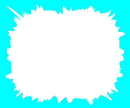 White splash on light blue background border Imagens