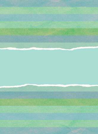 Green and blue Christmas wrapping paper with centre tear