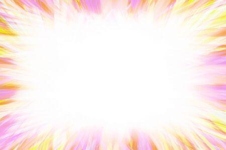Light pastel coloured starburst border frame with white copy space Reklamní fotografie